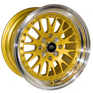MST Wheels® MT10 Wheels Rims 15x8 4x100 4x4.5 (4x114.3) Gold w/ Machined 25 | 10-5816-25-GLDL
