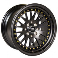MST Wheels® MT10 Wheels Rims 15x8 4x100 4x4.5 (4x114.3) Matte Black w/ Gold Rivets 25 | 10-5816-25-MBG