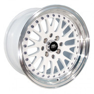 MST Wheels® MT10 Wheels Rims 15x8 4x100 4x4.5 (4x114.3) White w/ Machined 25 | 10-5816-25-WHTL