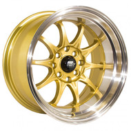 MST Wheels® MT11 Wheels Rims 15x8 4x100 4x4.5 (4x114.3) Gold w/ Machined 0 | 11-5816-0-GLDL