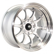 MST Wheels® MT11 Wheels Rims 15x8 4x100 4x4.5 (4x114.3) Silver w/ Machined 0 | 11-5816-0-SILL