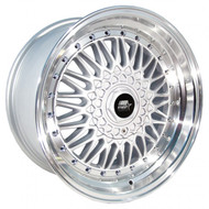MST Wheels® MT13 Wheels Rims 15x8 4x100 4x4.5 (4x114.3) Silver w/ Machined 20 | 13-5816-20-SILL