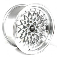 MST Wheels® MT36 Wheels Rims 15x8 4x100 4x4.5 (4x114.3) Silver w/ Machined 20 | 36-5816-20-SILL