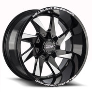Off-Road Monster® M80 Wheels Rims 20x10 6x135 6x5.5 (6x139.7) Black Milled -19  | M800607N19GBML