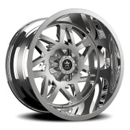 RBP® Avenger 71R Wheels Rims 22x12 5x127 (5x5) 5x5.5 (5x139.7) Chrome -44  | 71R-2212-58-44C