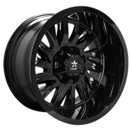 RBP® Batallion 75R Wheels Rims 22x12 5x127 (5x5) 5x5.5 (5x139.7) Gloss Black -44  | 75R-2212-58-44FB