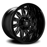 RBP® Silencer 74R Wheels Rims 22x12 5x127 (5x5) 5x5.5 (5x139.7) Black Machined Grooves -44  | 74R-2212-58-44BG