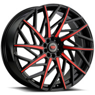 Revolution Racing® RR21 Wheels Rims 20x8 5x110 5x4.5 (5x114.3) Red 40 | RR21-20851014+40BR