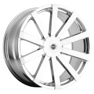 Strada® Gabbia S50 Wheels Rims 26x10 5x115 5x120 Chrome 15 | S50650115