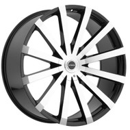 Strada® Gabbia S50 Wheels Rims 28x10 6x5.5 (6x139.7) 6x135 Black Machined 25 | S50A60725GBM