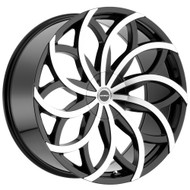 Strada® Huracan S61 Wheels Rims 22x9.5 5x115 5x120 Black Machined 35 | S61250135GBM