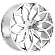 Strada® Huracan S61 Wheels Rims 22x9.5 5x115 5x120 Chrome 35 | S61250135
