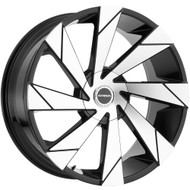 Strada® Moto S62 Wheels Rims 20x8.5 5x112 5x115 Black Machined 40 | S62050240GBM
