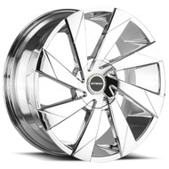 Strada® Moto S62 Wheels Rims 22x9 5x108 5x4.5 (5x114.3) Chrome 35 | S62250435