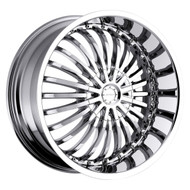 Strada® Spina S16 Wheels Rims 20x8 5x4.5 (5x114.3) 5x120 Chrome 40 | S16050140