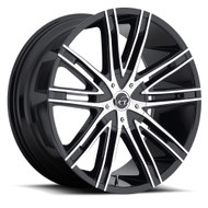 VCT® V28 Wheels Rims 22x8.5 5x115 5x120 Black Machined 40 | V28-2285105115120+40BM