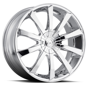 VCT® V48 Wheels Rims 18x7.5 4x100 4x4.5 (4x114.3) Chrome 40 | V48-1875841001143+40