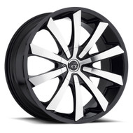 VCT® V48 Wheels Rims 22x8.5 5x115 5x4.75 (5x120.65) Black Machined 38 | V48-2285105115120+38BM
