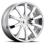 VCT® V48 Wheels Rims 22x9.5 6x115 6x5.5 (6x139.7) Chrome 30 | V48-22951261151397+30