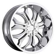 VCT® V61 Wheels Rims 22x9.5 5x115 5x120 Chrome 15 | V61-2295105115120+15