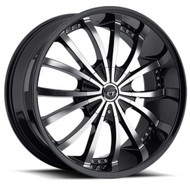 VCT® V63 Wheels Rims 22x9.5 5x115 5x120 Black Machined 15 | V63-2295105115120+15BM