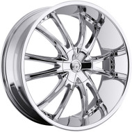 VCT® V69 Wheels Rims 22x8.5 5x115 5x120 Chrome 40 | V69-2285105115120+40