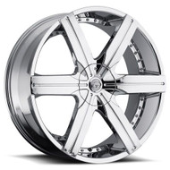 VCT® V70 Wheels Rims 20x8.5 5x108 5x4.5 (5x114.3) Chrome 40 | V70-20851051081143+40