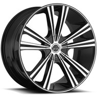 VCT® V71 Wheels Rims 22x8.5 5x110 5x115 Black Machined 38 | V71-2285105110115+38BM