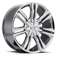 VCT® V73 Wheels Rims 20x8.5 5x112 5x115 Chrome 40 | V73-2085105112115+40