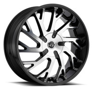VCT® V77 Wheels Rims 22x8.5 5x4.5 (5x114.3) 5x120 Black Machined 38 | V77-2285105114120+38BM