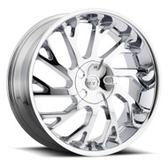 VCT® V77 Wheels Rims 22x9 6x115 6x5.5 (6x139.7) Chrome 30 | V77-2291261151397+30C