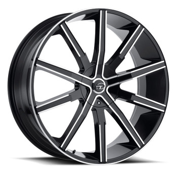 VCT® V80 Wheels Rims 22x8.5 5x115 5x120 Black Machined 38 | V80-228551520+38BM