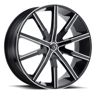 VCT® V80 Wheels Rims 24x9 5x115 5x120 Black Machined 20 | V80-24951520+20BM
