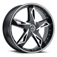 VCT® V84 Wheels Rims 18x8 4x100 4x4.5 (4x114.3) Black Machined 40 | V84-18840014+40SBM