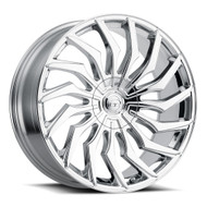 VCT® V85 Wheels Rims 22x8.5 5x115 5x127 (5x5) Chrome 38 | V85-228551527+38C