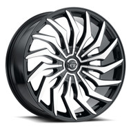 VCT® V85 Wheels Rims 22x9 6x127 (6x5) 6x5.5 (6x139.7) Black Machined 30 | V85-22962739+30BM
