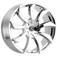 Xcess® X01 Wheels Rims 22x9 5x108 5x4.5 (5x114.3) Chrome 35 | X01250435