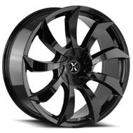 Xcess® X01 Wheels Rims 22x9 5x4.5 (5x114.3) 5x120 Gloss Black 35 | X01250135GB