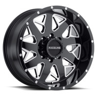 Raceline® 939M Disruptor Wheels Rims 22x12 8x180 Black Milled -44  | 939M-22288-44