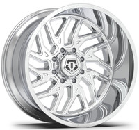 TIS 544C Wheel 26x14 8x6.5 (8x165.1) Chrome -76 MM -FREE LUGS!!