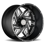 American Truxx® Orion ATF-1908 Forged Wheels Rims 24x14 6x5.5 (6x139.7) Black Milled -76    ATF1908-241483M