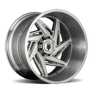 American Truxx® Spiral AT-1906 Wheels Rims 24x14 8x6.5 (8x165.1) Brushed Texture -76  | AT1906-241491BT