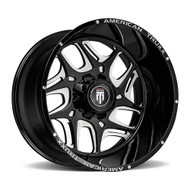 American Truxx® Sweep AT-1900 Wheels Rims 24x14 8x6.5 (8x165.1) Black Milled -76  | AT1900-241491M