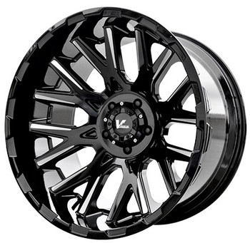 V Rock® Recoil VR10 Wheels Rims 17x9 5x5.5 (5x139.7) Gloss Black Machined 0 | VR10-79850GBM