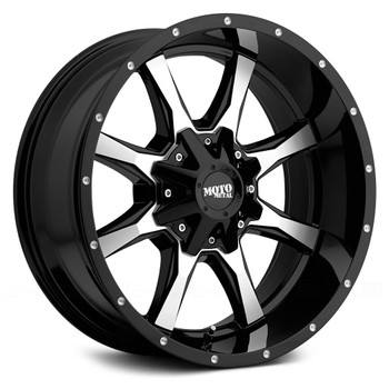 "Moto Metal MO970 Wheels 20X10 8X6.5"" ( 8X165.1 ) Milled Black -24 