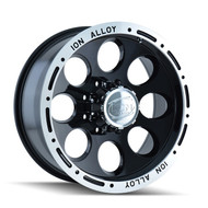 Ion Alloy 174 Black Wheels 16X8 8X165.1 -5 | 174-6881B