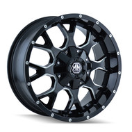 "Mayhem Warrior 8015 Black Milled Wheels 18X9 5X150 & 5x5.5"" +18 