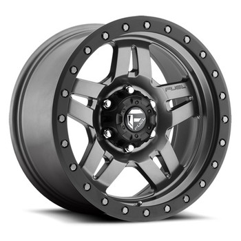 "FUEL ANZA D558 WHEELS 16X8 6X5.5"" ( 6X139.7 ) 1MM ANTHRACITE BLACK 