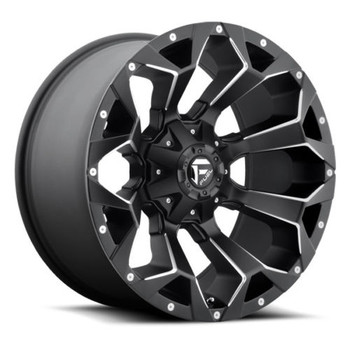 "FUEL ASSAULT D546 WHEELS 20X10 6X135 & 6X5.5"" ( 6X139.7 ) -18MM BLACK 