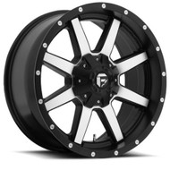 "FUEL MAVERICK D537 WHEELS 22X10 6X135 & 6X5.5"" ( 6X139.7 ) -24MM BLACK MACHINED 